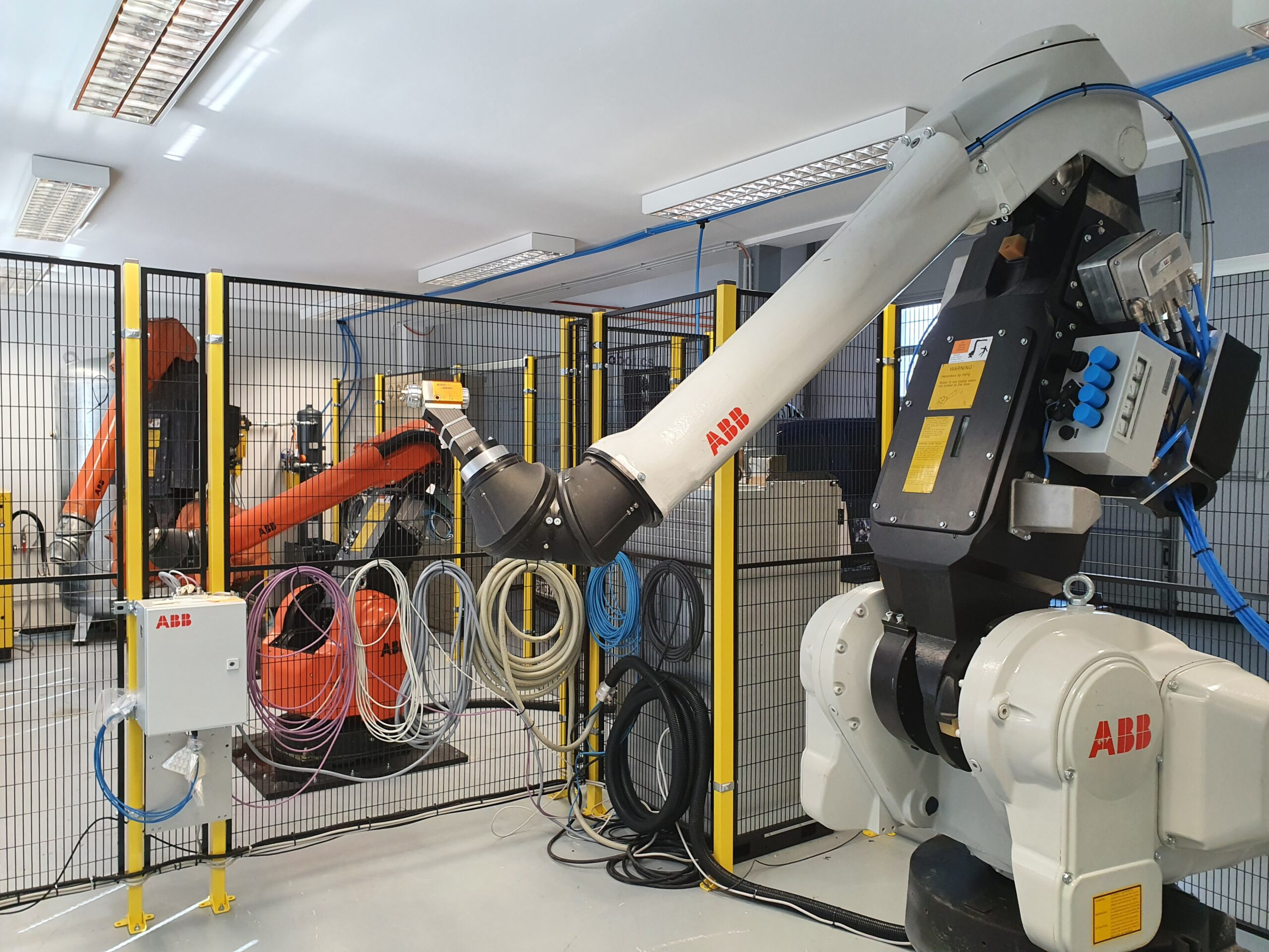 3 generations of ABB paint robots